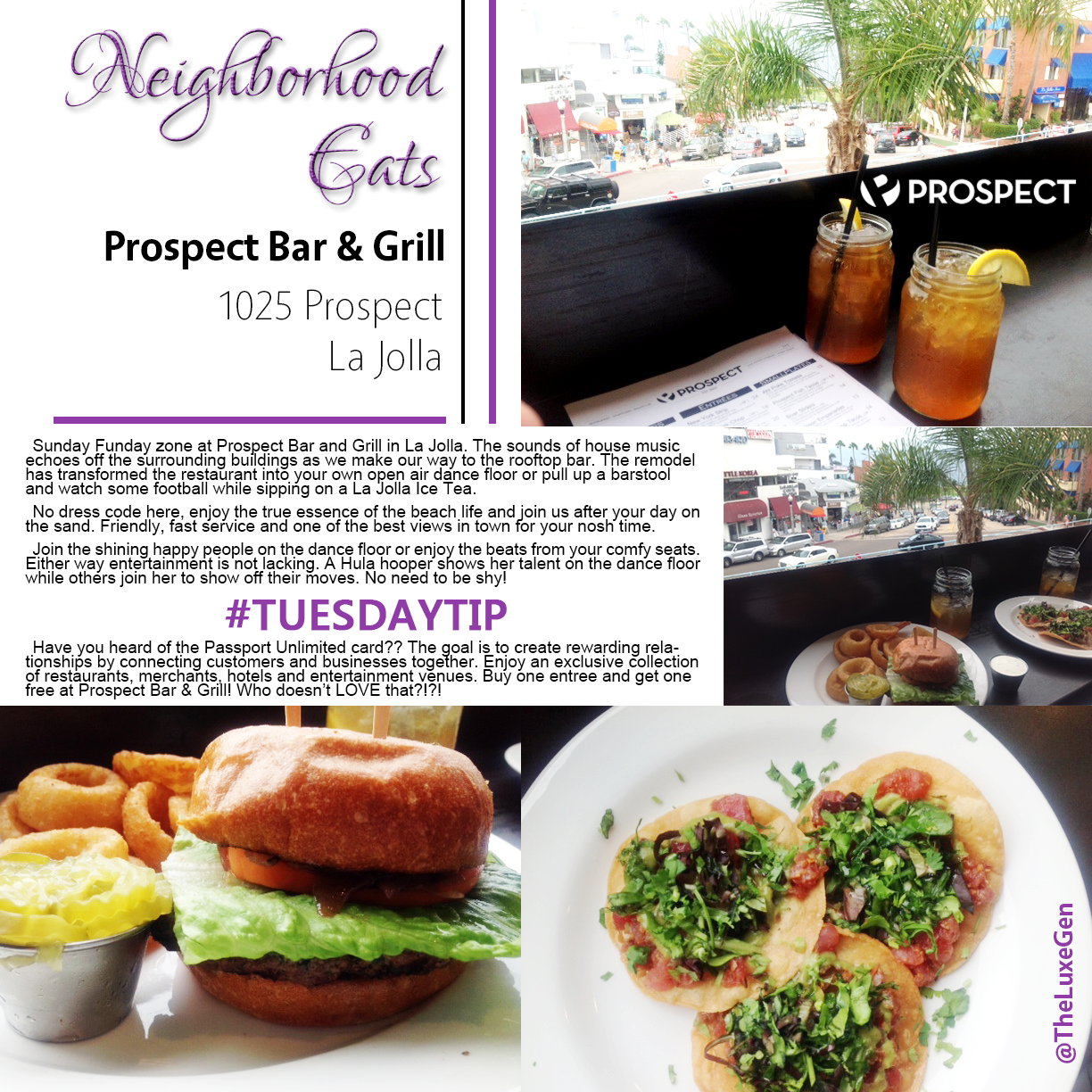 Neighborhood Eats, Tuesday Tip, Passport Unlimited, Fine Dining, Discounts, San Diego, La Jolla
