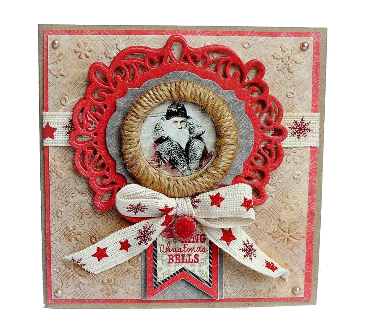 kartka świąteczna z wiankiem