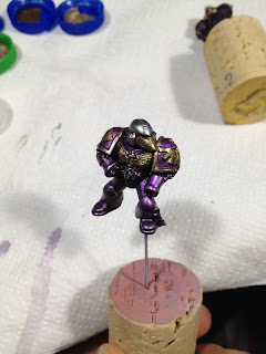 The Horus Heresy Betrayal at Calth test model paint