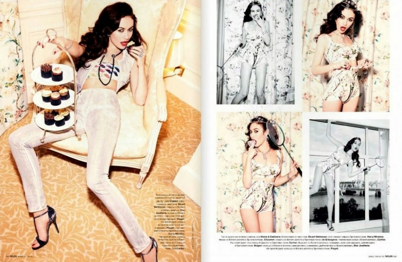 Olga Kurylenko HQ Pictures Tatler Russia Magazine Photoshoot March 2014 By Daniel Jackson
