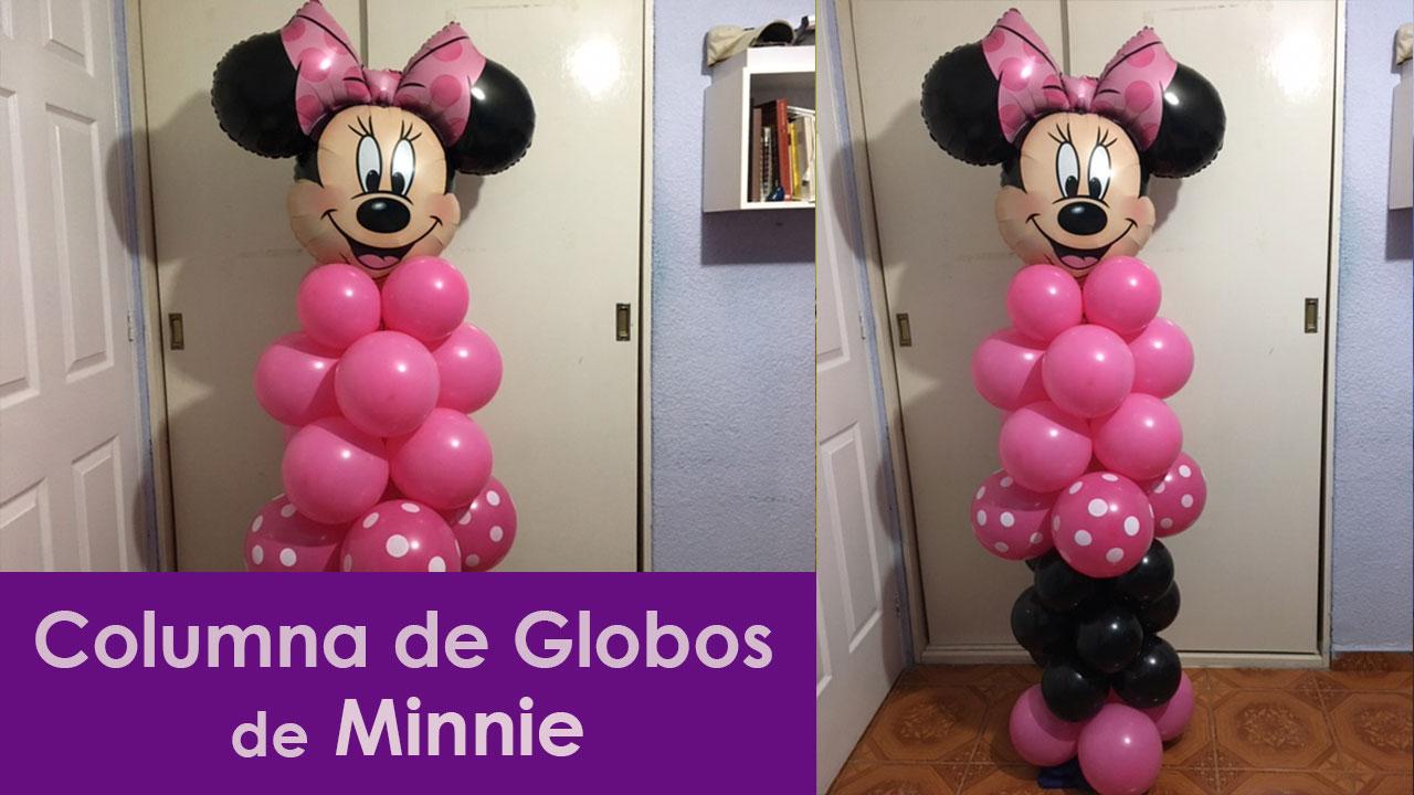 Columna de globos fiesta minnie mouse for Decoracion minnie mouse