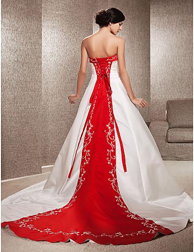 Vestido de Novia Rojo y Blanco YULIYA