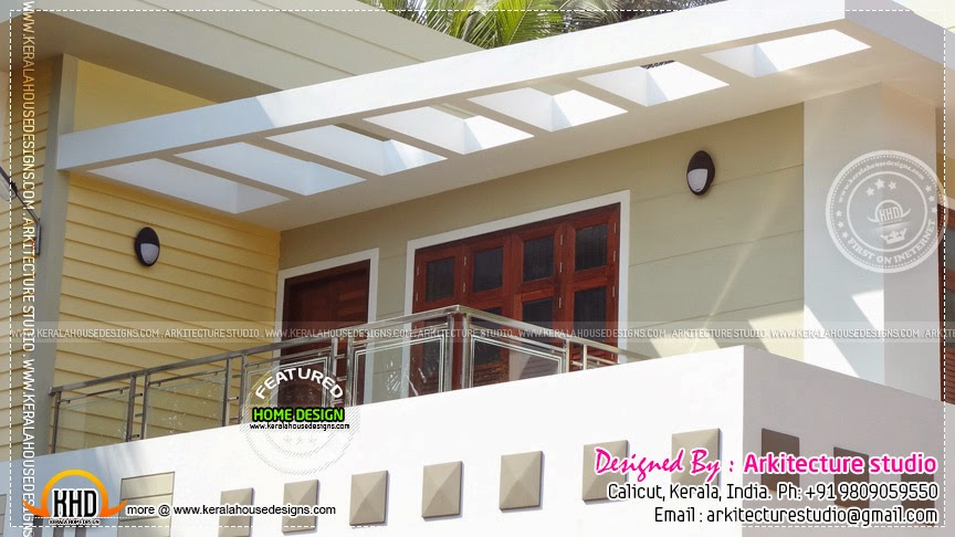 Ground Floor House Elevation Furnished : Furnished house elevation with interior photos kerala