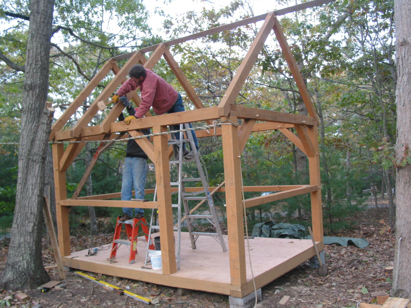 A new timber framed cottage cabin tiny for Framing a small cabin