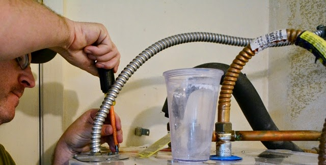 Wiring a hot water heater