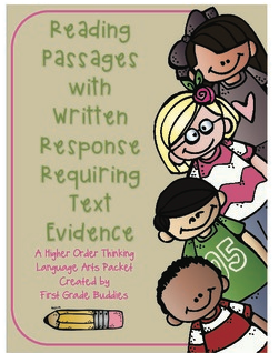 http://www.teacherspayteachers.com/Product/Reading-Passages-with-Written-Response-Requiring-Text-Based-Evidence-998530
