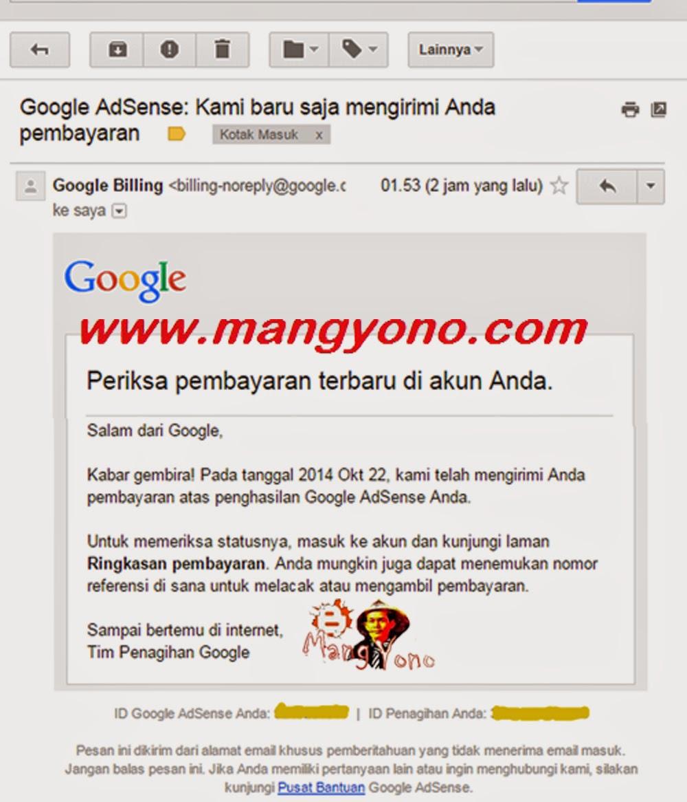Email Cinta dari Google Adsense