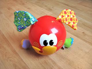 De voorkant van dit leuke baby speelgoed