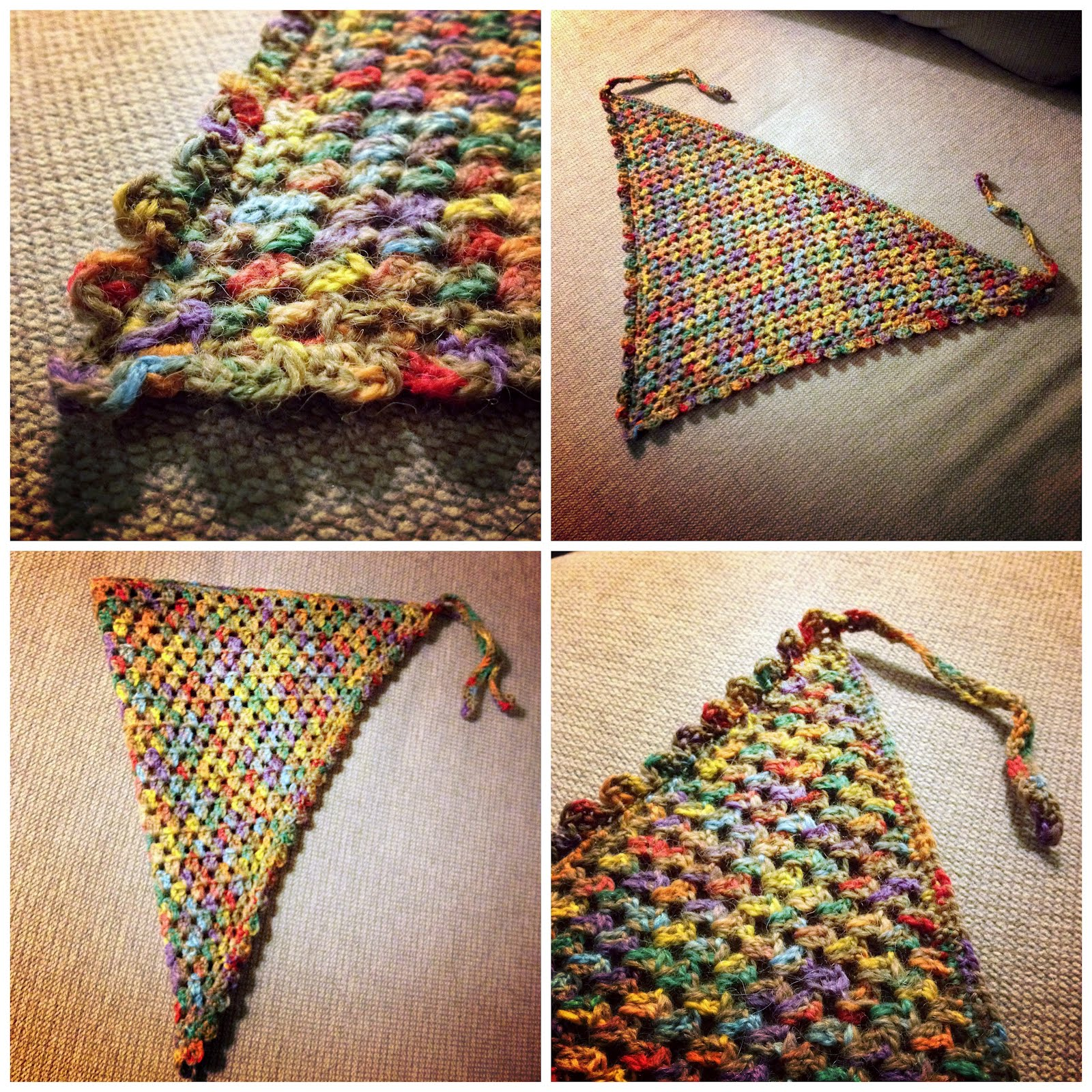 Crocheting Blind Crochet Project Head Scarf