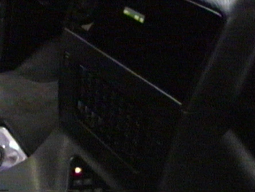 Photo image of hidden head unit display inside the sound-off champion van built by Paul Richardson and Alberto A Lopez in 1996