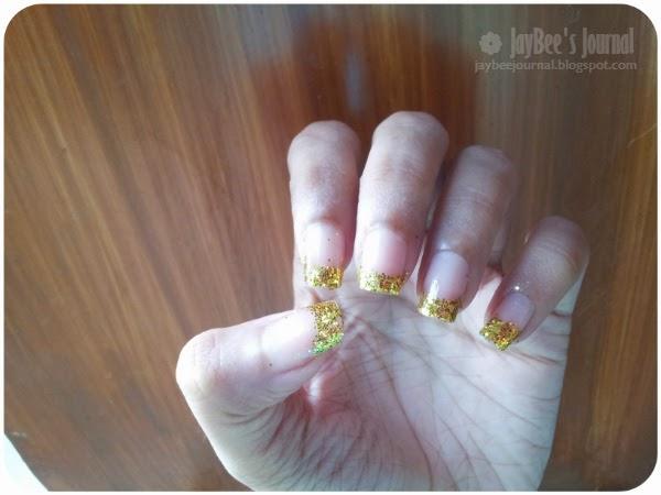 Pakistani beauty blog, Nail art designs for eid, glitter french manicure