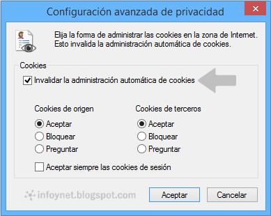 Configuración avanzada de privacidad