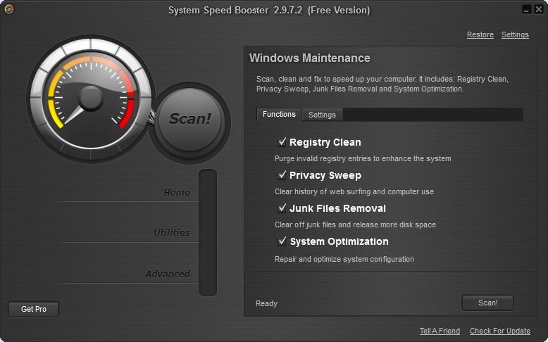 برنامج System Speed Booster لتسريع وصيانة الويندوز