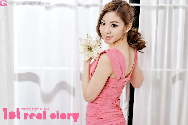 3 Chae Eun in Pink  - very cute asian girl - girlcute4u.blogspot.com