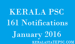KPSC new notifications 2016