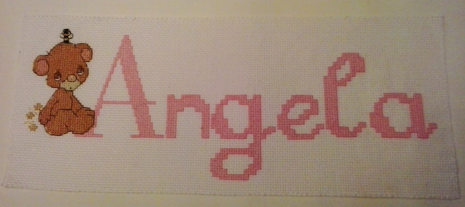 Angela y sus labores labor en punto de cruz - Labores en punto de cruz ...