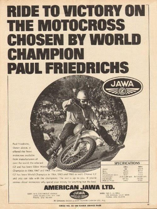 Jawa polecana przez mistrza motocross