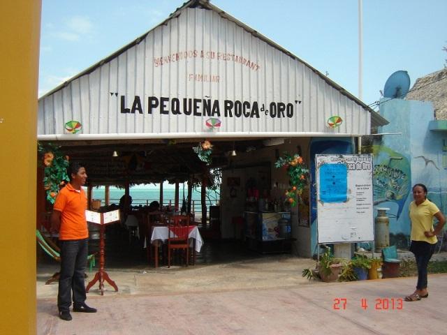 Restaurante la peque a roca de oro calderitas quintana roo for Restaurante la roca