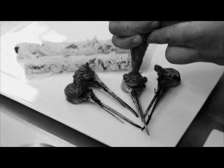 La cocina plural la becada cocina de caza de can jubany for Plural of canape