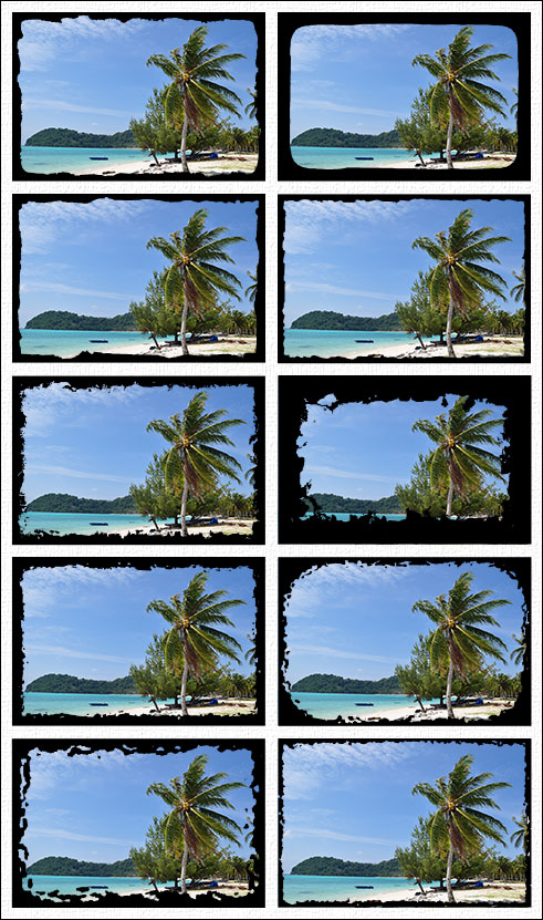 Set with 10 custom shapes for Adobe Photoshop and Photoshop Elements