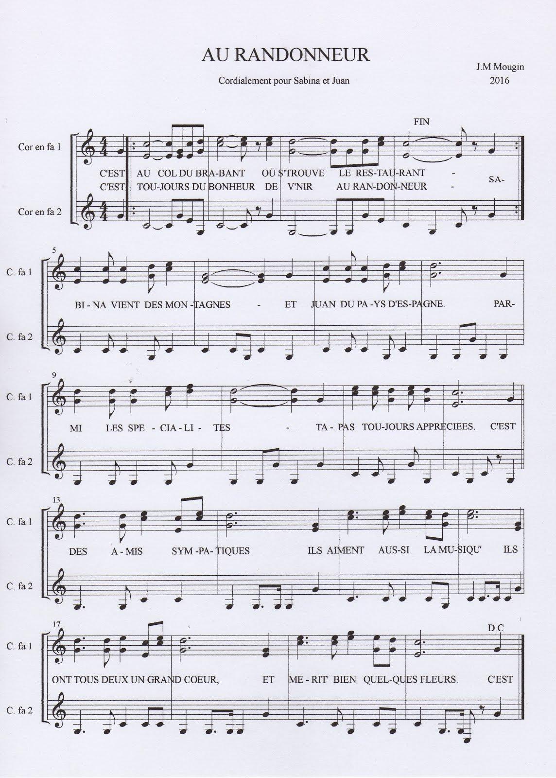 La chanson du Randonneur