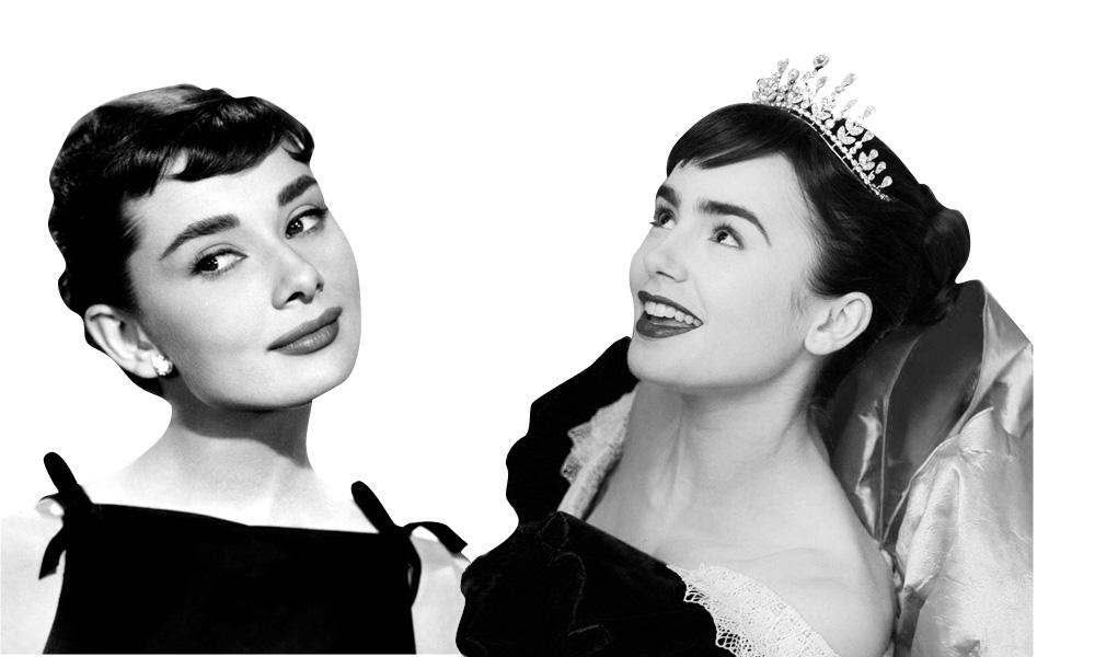 ha sido el personaje de Blancanieves  interpretado por Lily Collins    Lily Collins Audrey Hepburn