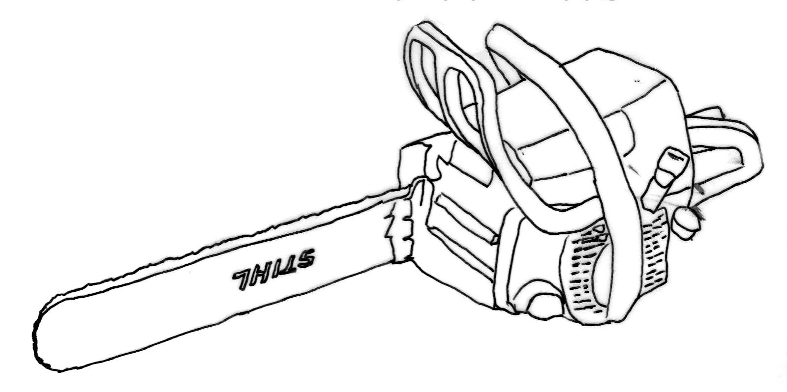 stihl chainsaw drawing