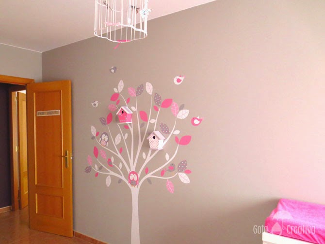 Gota creativa marzo 2015 for Decoracion en la pared para ninas