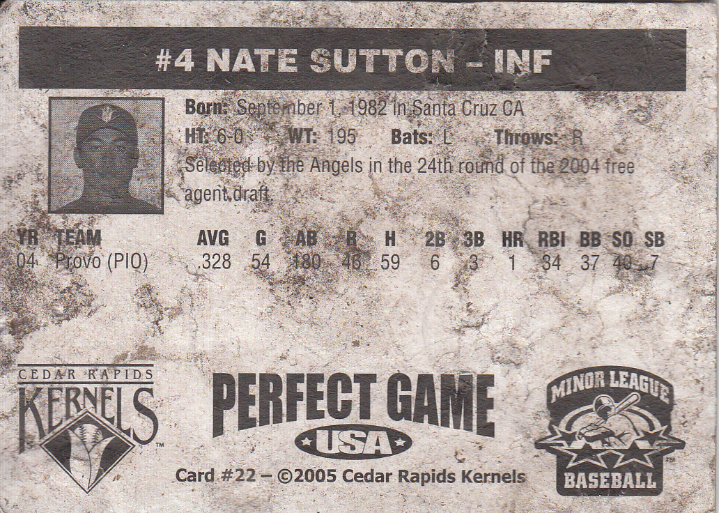baseball cards back. Poor Old Baseball Card but