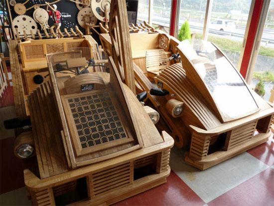 gambar mobil kayu