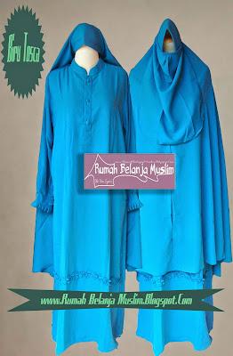 Gamis Muslimah Varian Warna Biru