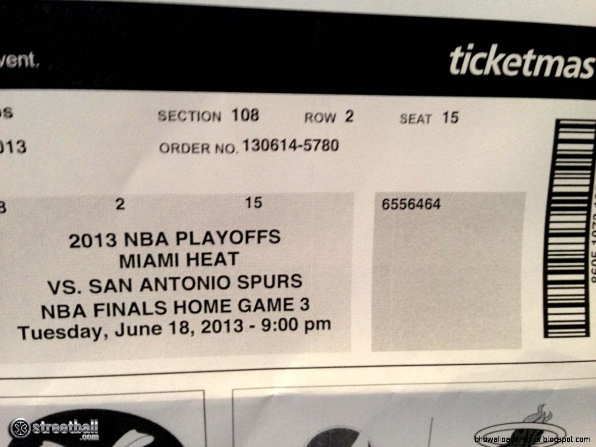 Miami Heat NBA Finals Game 6 Ticket   Streetball