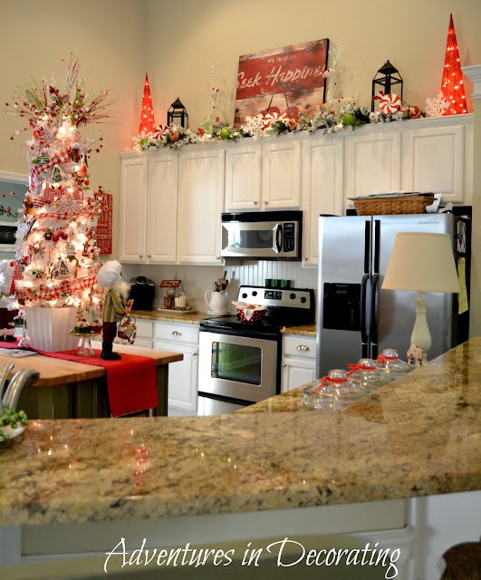 Kitchen Decorated For Christmas: Adventures In Decorating: Our Christmas Great Room And