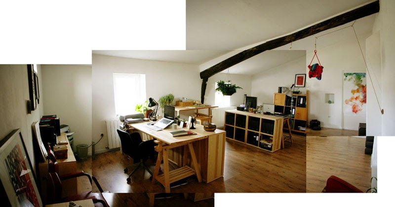 The home office studio of one of my favorite graphic - How to be a graphic designer from home ...