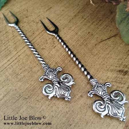Fleur De Lis Cocktail Forks sold by Little Joe Blow photo 3
