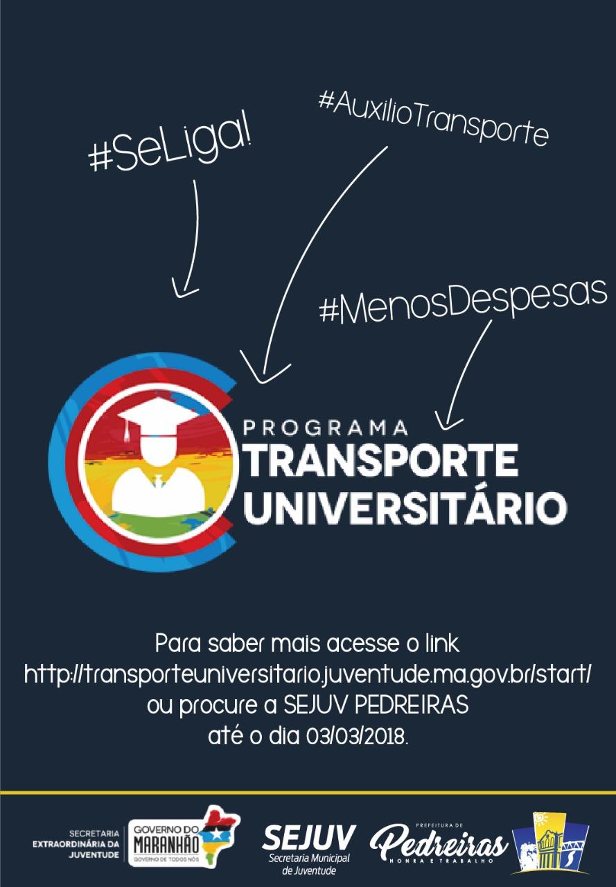 CARTÃO TRANSPORTE UNIVERSITÁRIO