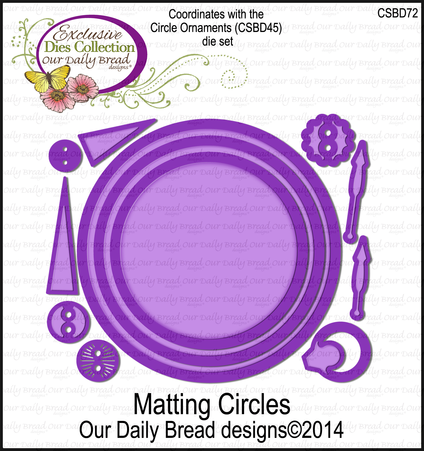 Our Daily Bread Designs Custom Matting Circles Dies