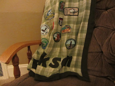 A Family Memories Blanket-collect patches from places you've visited together and sew them on a family blanket-The UnlikelyHomeschool