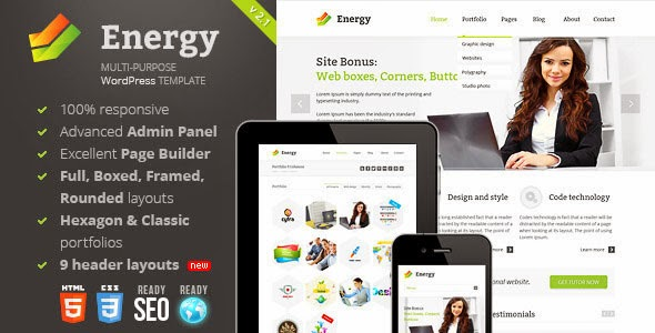 Energy v2.7.1 - Responsive Multi-Purpose Theme Free Download