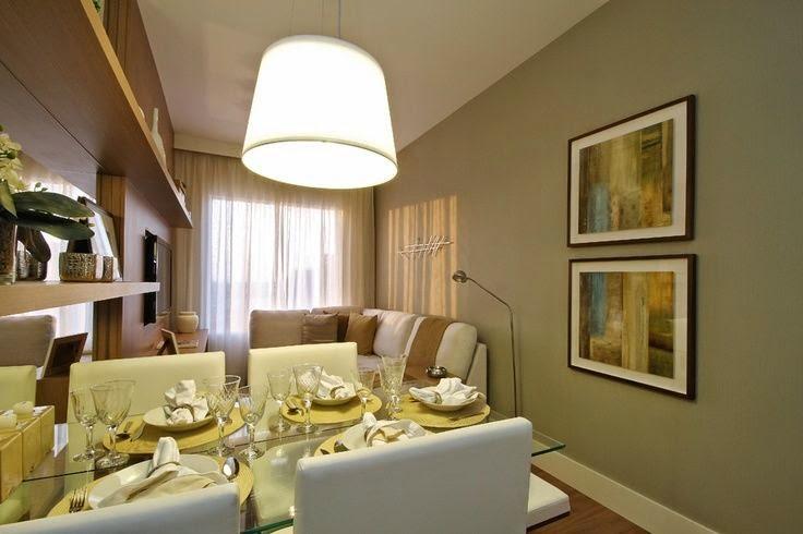 20 salas de jantar pequenas jeito de casa blog de - Decoracion comedor salon ...