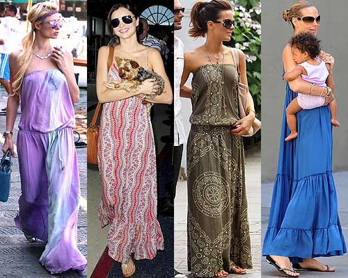 Como usar vestidos largos de verano