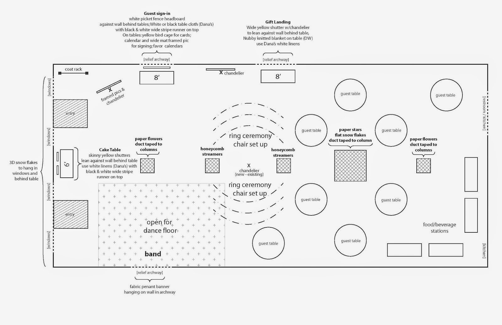 Table diagram for wedding reception images how to guide for Wedding reception layout tool
