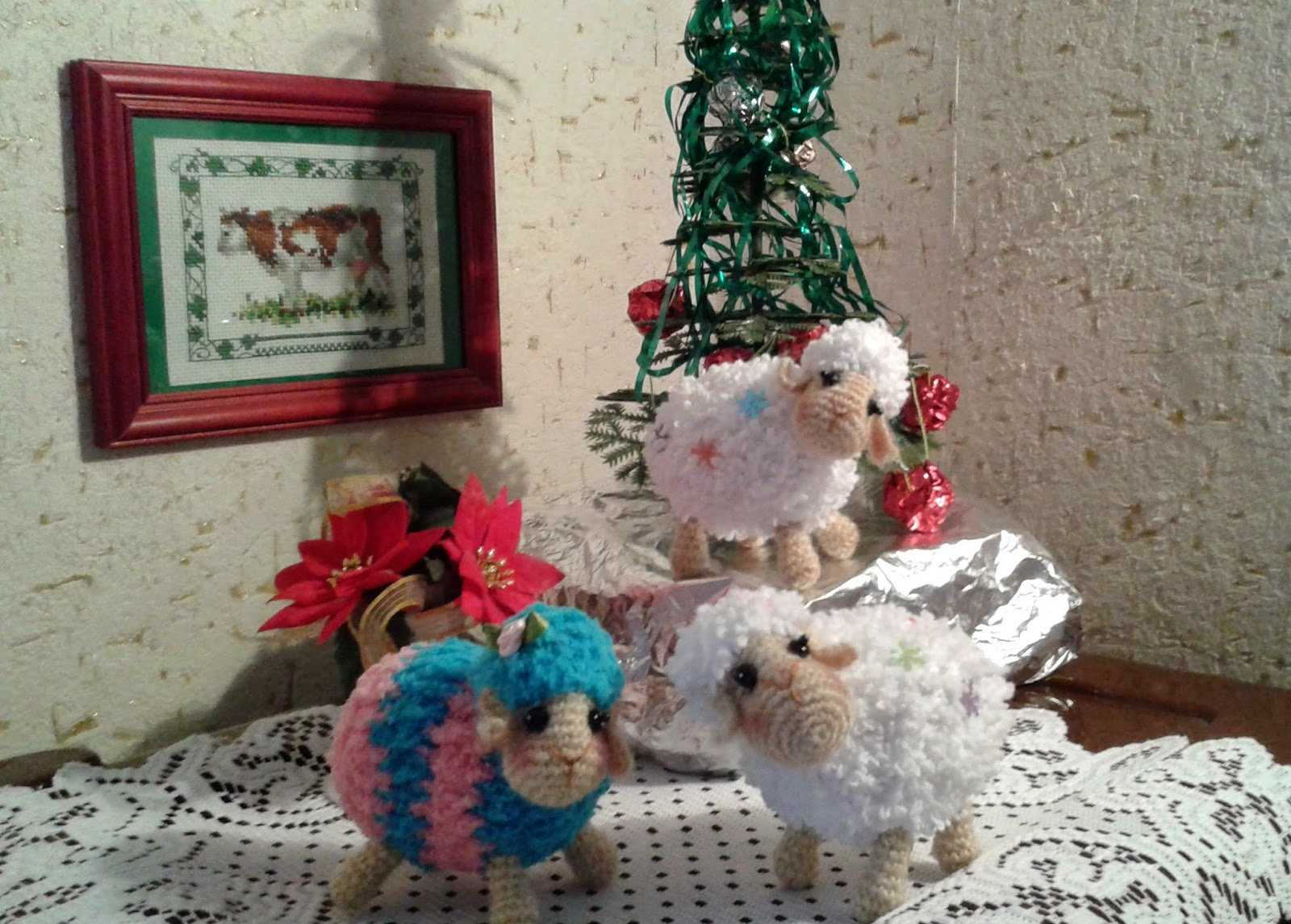 вязаные овцы