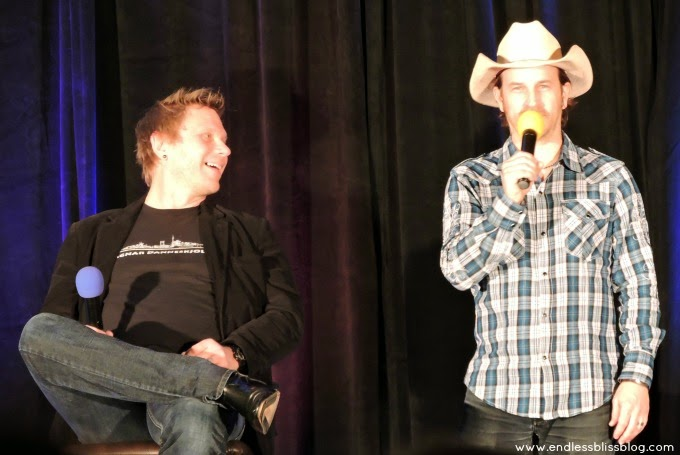 mark pellegrino and richard speight jr at supernatural con houston 2015