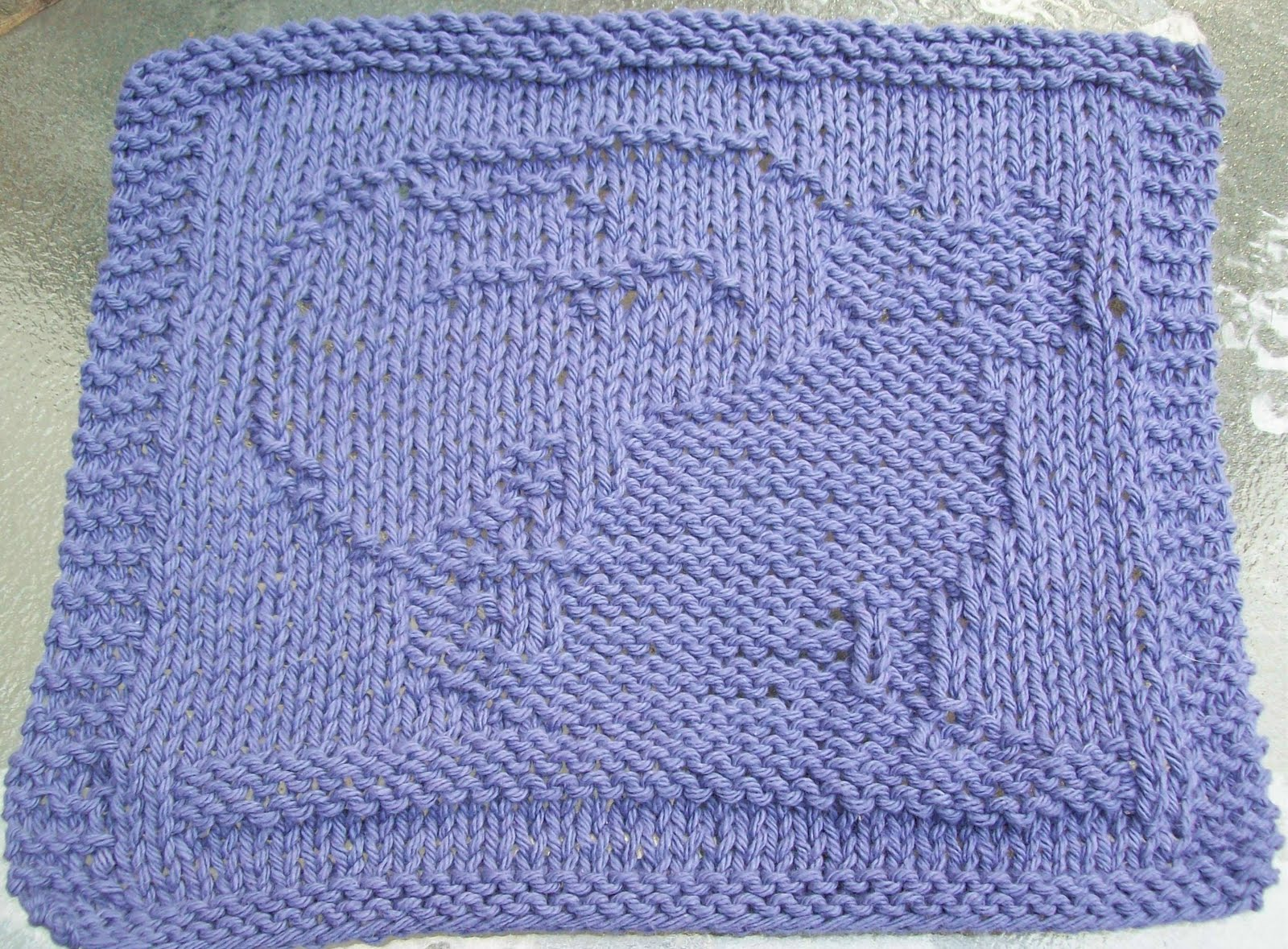 Knitted Dalek Pattern : DigKnitty Designs: Cat and Moon Knit Dishcloth Pattern