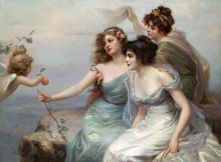The Three Graces (1899) by the French Painter Edouard Bisson (1856 - 1939)