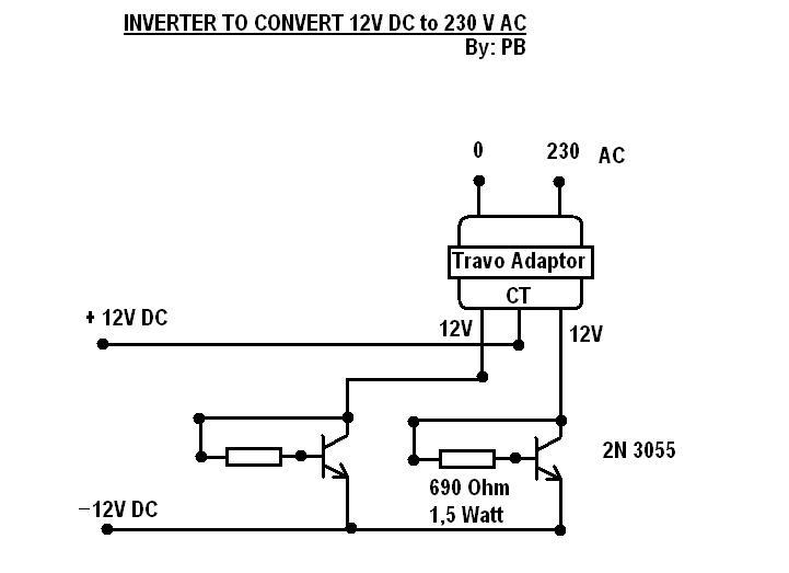 Aneka Rangkaian Skema Elektronika Inverter