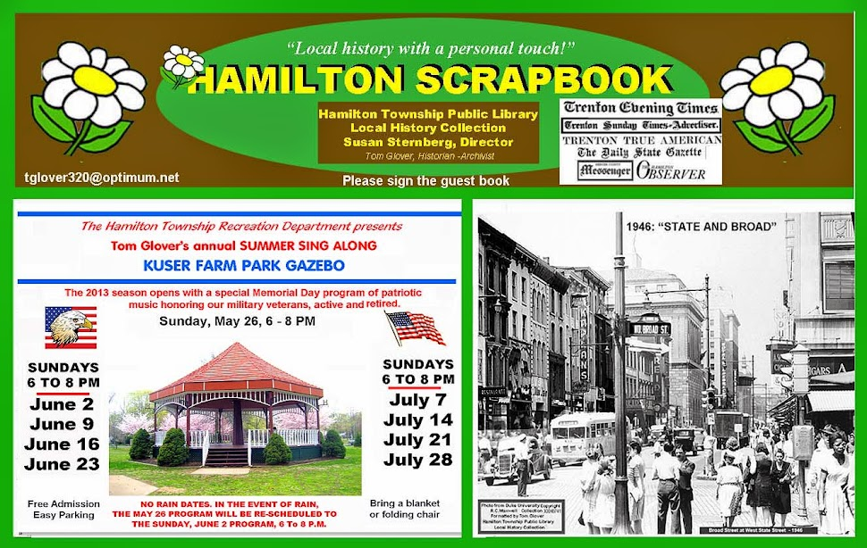 TOM GLOVER&#39;S HAMILTON  LIBRARY SCRAPBOOK: LOCAL HISTORY WITH A PERSONAL TOUCH.