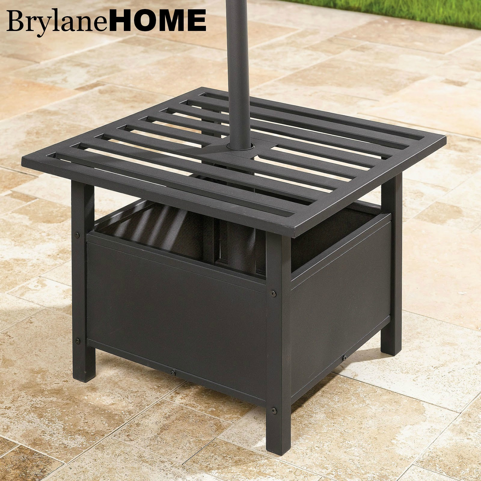 Giveaway: BrylaneHome 9u0027 Patio Umbrella And Umbrella Stand Side Table