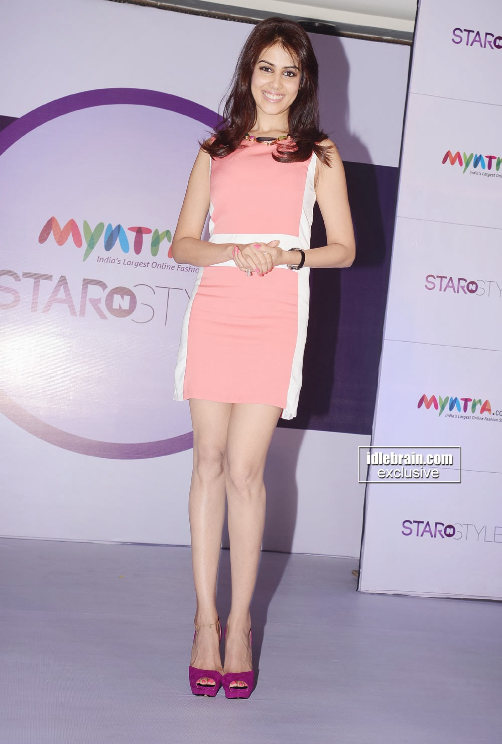 Indian Garam Masala: Actress Genelia in Pink Dress ...